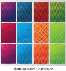 Vector Abstarct design background. Geometric bacground template set collections