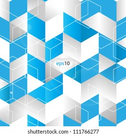 vector abstract 3D cube background - eps10
