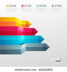 Vector abstract 3D digital illustration infographic and marketing icons can be used for work flow layout, diagram, annual report, web design. Business concept with 4 options, steps or processes.
