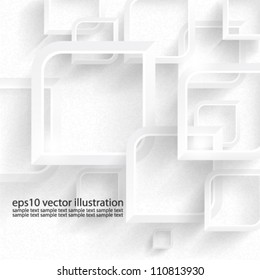 Vector abstract 3D geometrical background design - eps10