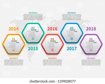 vector abstract 3d paper infographic elements. Hexagon infographics. Honeycomb design