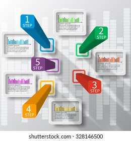 vector abstract 3d paper infographic elements