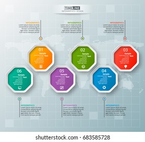 vector abstract 3d paper infographic elements.octagon infographics