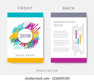 Vector abstract annual report business cover brochure design