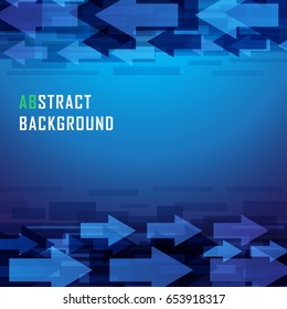 Vector abstract arrow business background. Template brochure and layout design