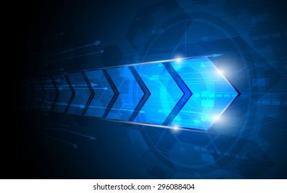 vector abstract arrow digital innovation concept background