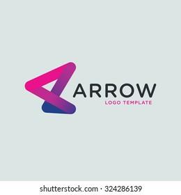 Vector abstract arrow logo