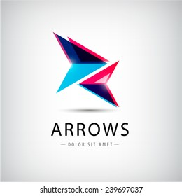vector abstract arrows icon, logo