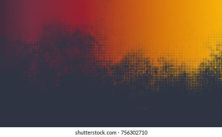 Vector abstract autumn background. Halftone  grunge design.