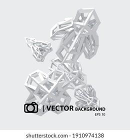 IMAGE VECTORIELLE ARRIÈRE-PLAN ABSTRAIT, formes 3D sur fond blanc