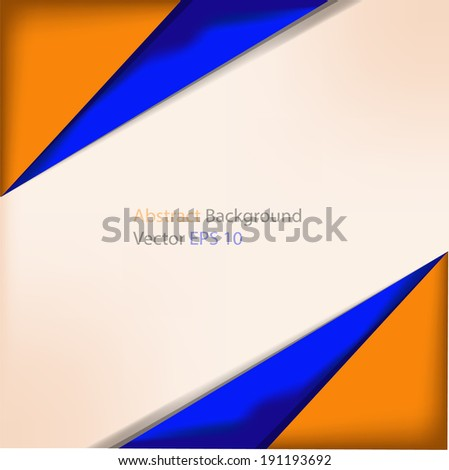 Vector Abstract Background Blue Yellow Color Stock Vector Royalty