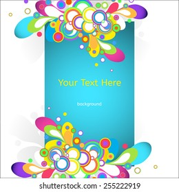 Vector Abstract Background for Business Documents, Website backgrounds, Flyers and Placards.