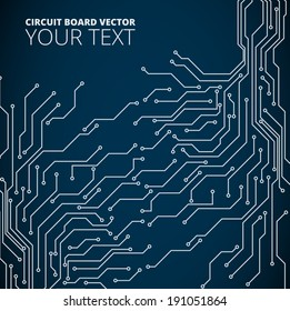 Vector abstract background of circuit board digital technologies