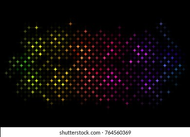 Vector abstract background - colorful disco lights