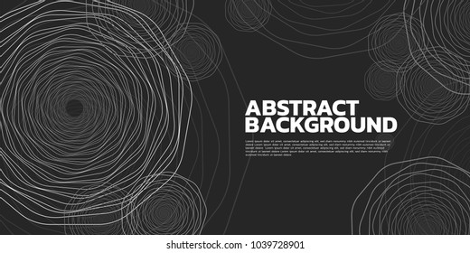 Vector Abstract background Complex Line geometry flower  Spiral Vintage style