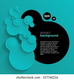 Vector abstract background composed of overlapping circles