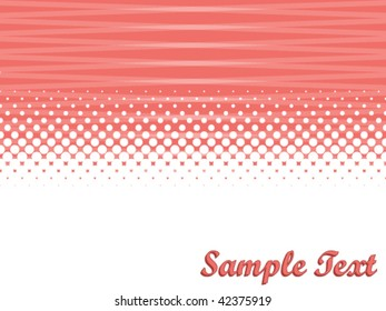 vector abstract background with copy space and halftone effect, raster variant is also available