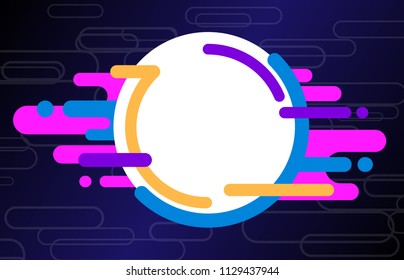 Vector abstract background with cosmic design. Composition made of different multicolor shapes