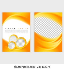 Vector abstract background design. Brochure design templates collection and waving