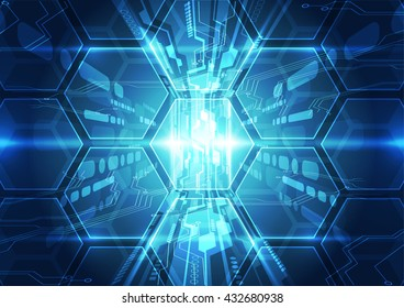vector abstract background digital technology communication concept