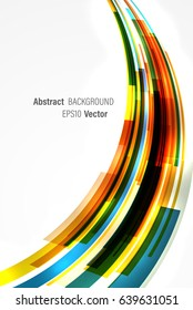 Vector abstract background. Dynamic colorful stripes flowing vertically.