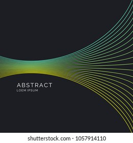 Vector abstract background with dynamic lines. Illustration suitable for design