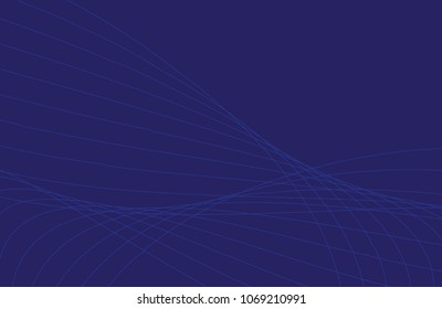 Vector abstract background with dynamic waves
