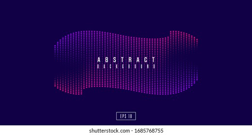 Vector abstract background with dynamic waves, dots, line and particles. Vector Illustration - EPS 10