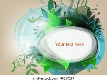 vector abstract background with foliage
