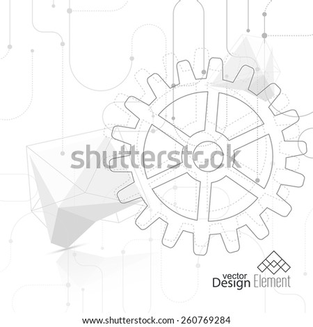 Vector Abstract Background Gear Wheel Geometric Stock Vector