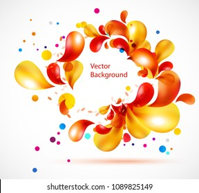 vector abstract background from geometric figures, wallpaper