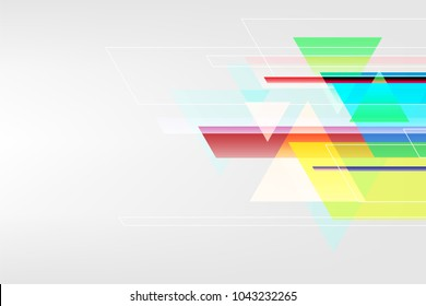 Vector abstract background of geometric shapes.