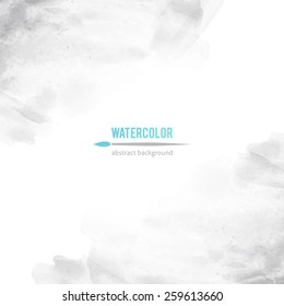 vector abstract background of gray watercolor stains