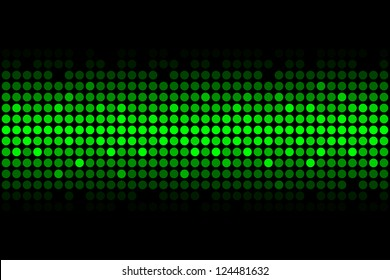 Vector abstract background - green lights
