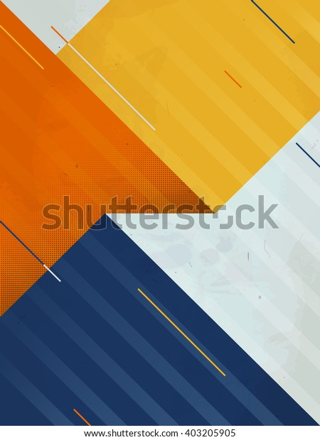 Vector Abstract Background. Grunge texture. Triangle geometric pattern.
