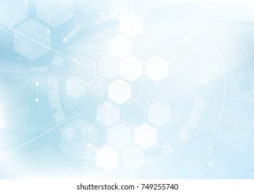 Vector Abstract background hexagons design. science futuristic energy technology. Hi-tech digital concept