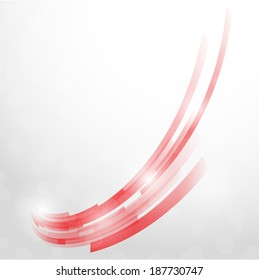Vector abstract background. Isolated wavy lines on white background.