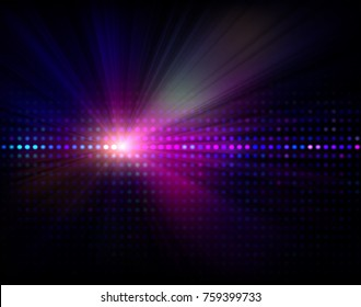 Vector abstract background with led display and light - rays