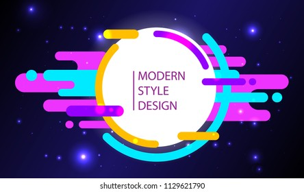 Vector abstract background with modern style design. Composition made of different colorful shapes