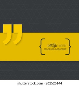 Vector abstract background. Quotation Mark. Quote sign icon.