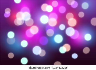 Vector abstract background with red, purple and blue blurred lights - disco, celebration, party concept