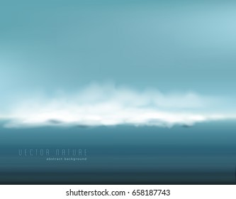 Vector abstract background. Restless seascape (clouds, fog, storm approach)
