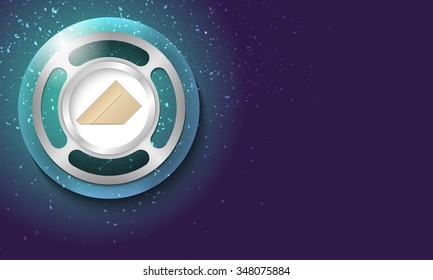 Vector abstract background with scratches and bubble with envelope