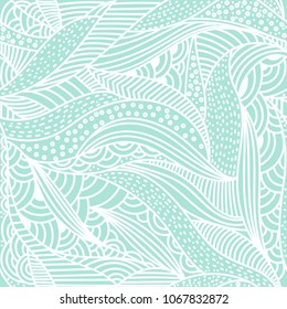 Vector abstract background. Seamless organic shapes doodle pattern.