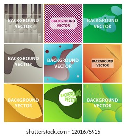 Vector abstract background set. Art template design for invitation card, front page, mockup brochure theme style, banner idea, book cover, booklet print, flyer sheet a4. Colorful grunge texture