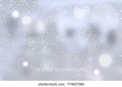 Vector abstract background with snow