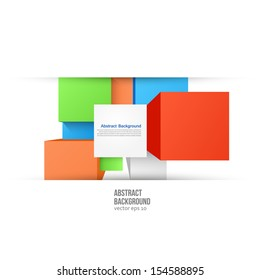 Vector abstract background. Square color and geometric