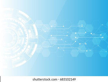 Vector abstract background, technology concept , Hight tech communication.