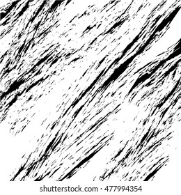 Vector abstract background texture brush stroke hand painted with acrylic paint, black and white.