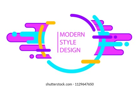 Vector abstract background with trendy design. Composition made of different multicolor shapes